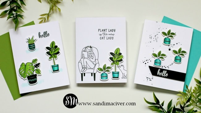 Plant Lady Stamp and Die set from Spellbinders cards by Sandi MacIver