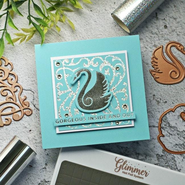 Spellbinders Becca Feeken Sweet Cardlets Swan 650