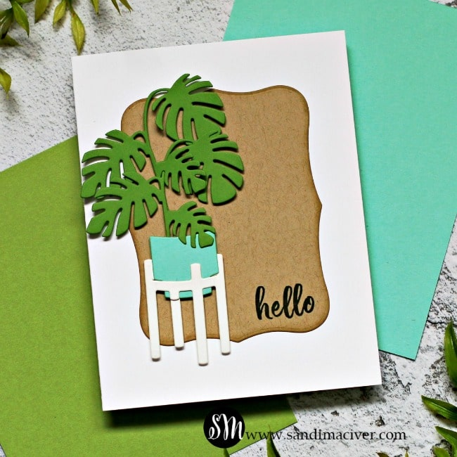 Spellbinders Take Time For You Project Kit Spellbinders Happy Plants Card 1