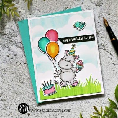 Tonic Studios Party Animals Birthday Card