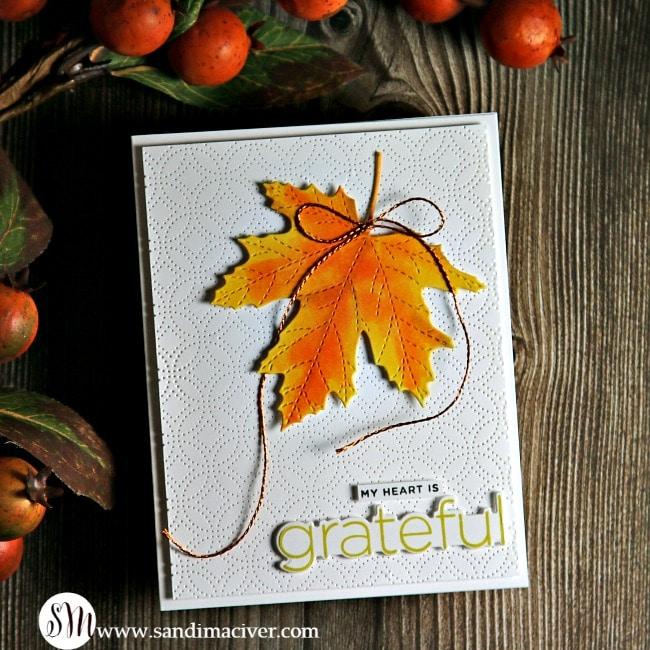 Large Stitched Maple Leaf 2