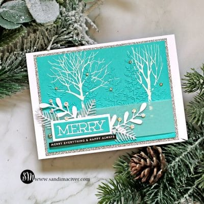 Simon Says Stamp Forest Border Embossing Folder