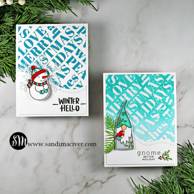 Simon Says Stamp Holiday Words Gnome Christmas Card