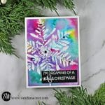 Nuvo Shimmer Powder Snowflake Cards multicolored