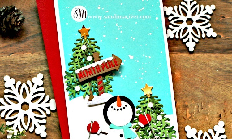 Spellbinders November Small Die of the Month Warm Holiday Wishes 5