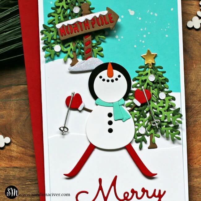 Spellbinders November Small Die of the Month snowman