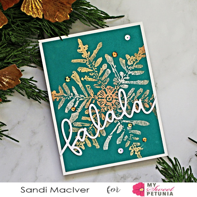 Metallic Snowflakes with Perfect Pearls Teal