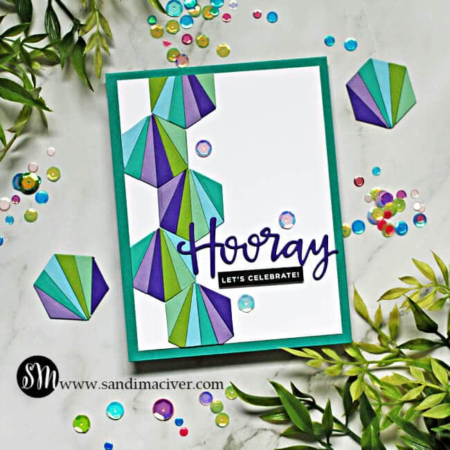 Simon Says Stamp Hexagon Tiles Cards