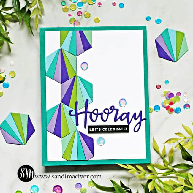 Simon Says Stamp Hexagon Tiles Card