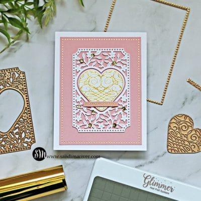 Spellbinders Calligraphy Hearts