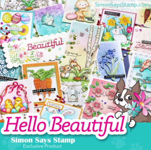 Simon Says Stamp Hello beautiful release square