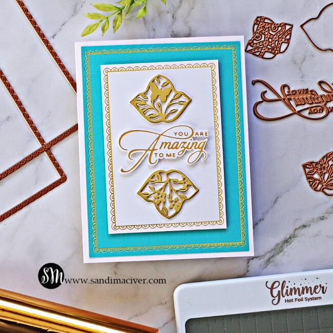 Spellbinders Scalloped Rectangle Glimmer of the Month