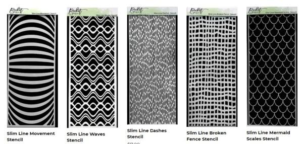 Picket Fence Studios Slimline Stencils