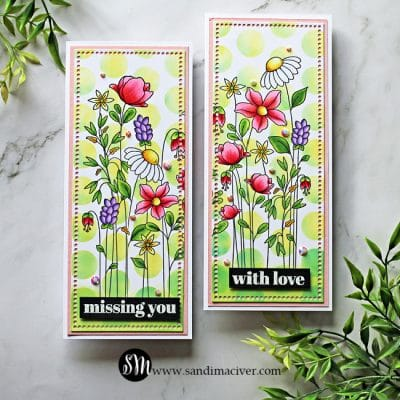 Simon Says Stamp Floral Garden Slimline Cards