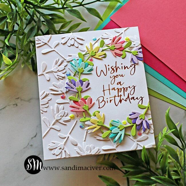 Spellbinders Large Die of the Month Floral Card
