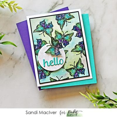 Picket Fence Studios Butterfly Card