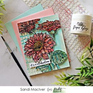 picture of a hand made card created with Picket Fence Studios Wild Daisies stamp set