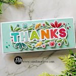 hand stitched thank you card created with the Spellbinders Small Die of the Month Kit