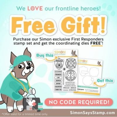 first responders stamp and die set for card making and paper crafting from Simon Says Stamp