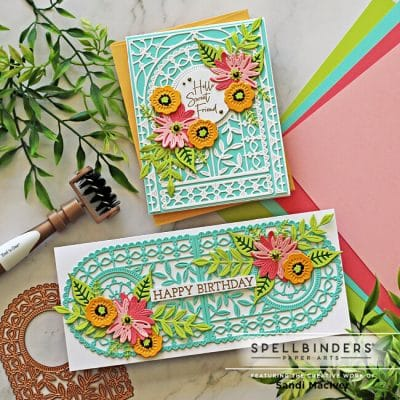 Spellbinders Arched A2 and Slimline Cards
