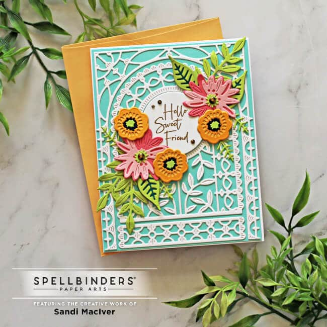 image of a handmade greeting card created with the May Small Die of the Month Kit from Spellbinders papercrafts
