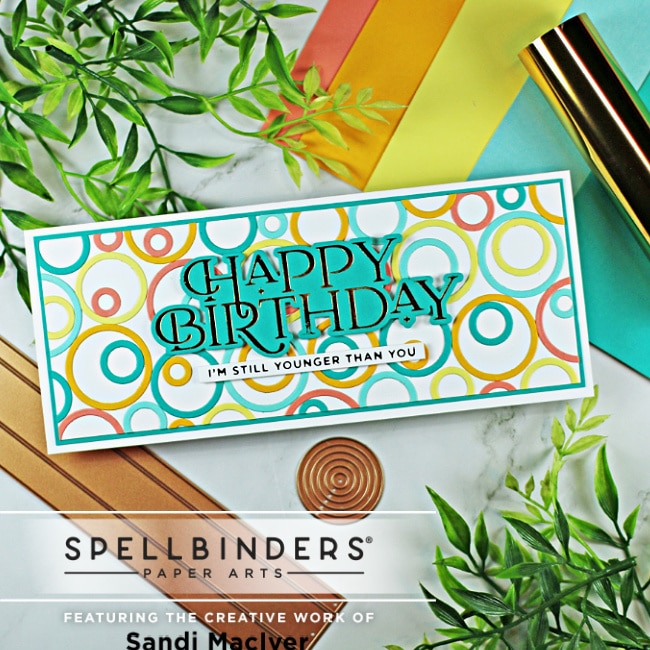 SLimline card created with the Spellbinders June Large Die of the Month Kit