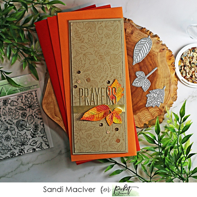 handmade Slimline Card using cardmaking products from Picket Fence Studios